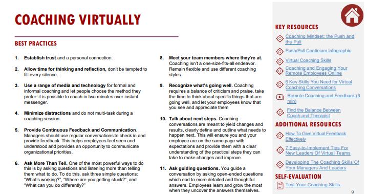 Tips for Coaching Virtually